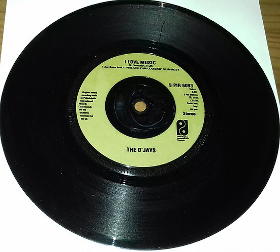 "The O'Jays - I Love Music (7"", Inj) (Philadelphia International Records)"