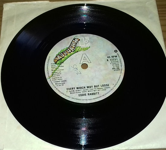 "Eddie Rabbitt - Every Which Way But Loose (7"") (Elektra)"