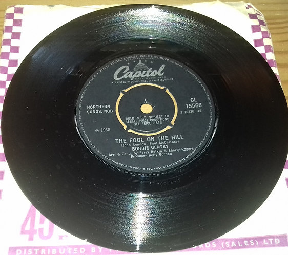 """Bobbie Gentry - The Fool On The Hill (7"""") (Capitol Records)"""