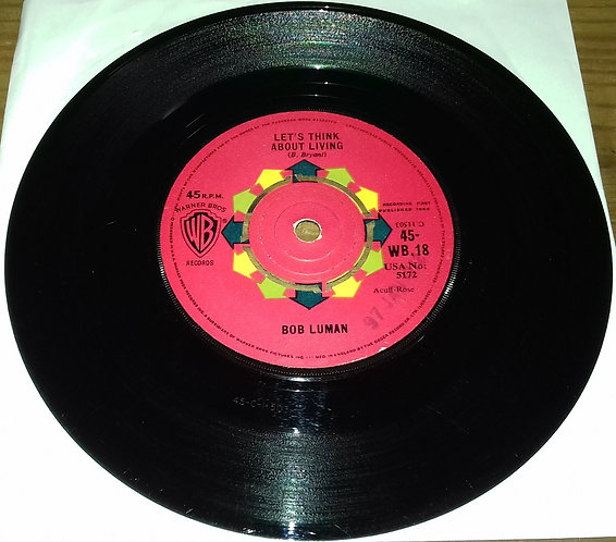 """Bob Luman - Let's Think About Living (7"""", Single) (Warner Bros. Records)"""