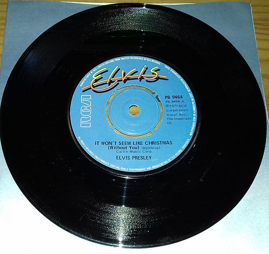 """Elvis Presley - It Won't Seem Like Christmas (Without You) (7"""", Single, 4 P) (RC"""