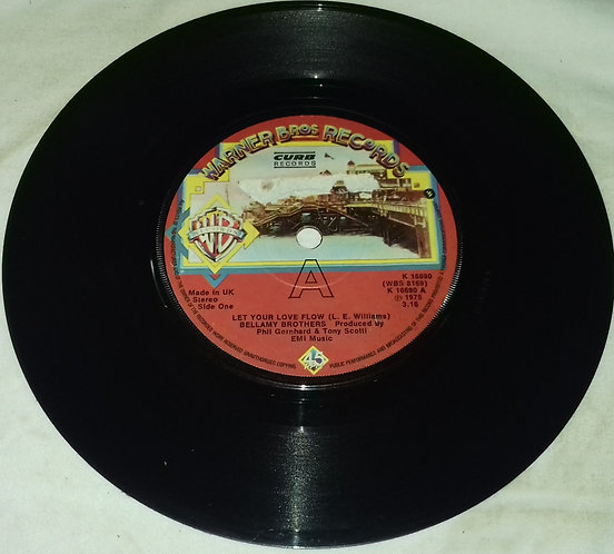 """Bellamy Brothers - Let Your Love Flow (7"""", Single, RE) (Warner Bros. Records, Cu"""
