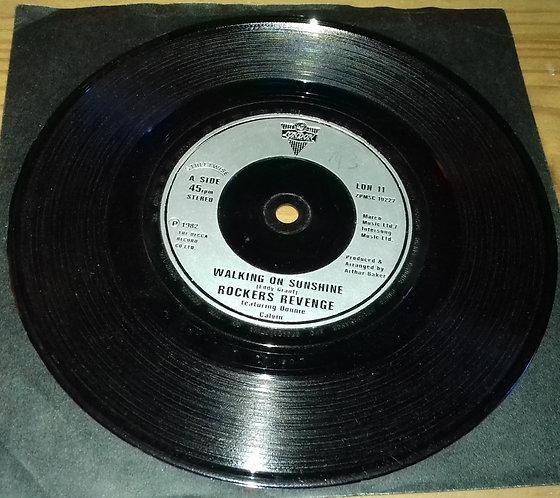 "Rockers Revenge Featuring Donnie Calvin - Walking On Sunshine (7"", Sil) (London"