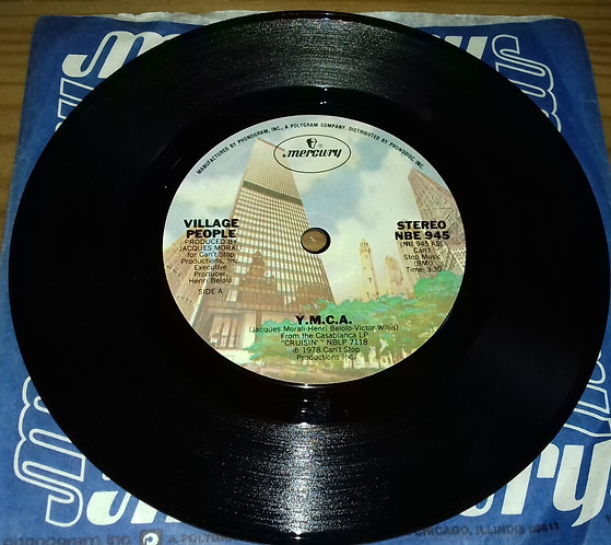"Village People - Y.M.C.A. (7"", Single, Styrene, Sol) (Mercury)"