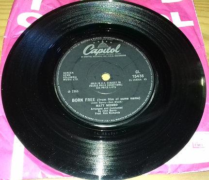 """Matt Monro - Born Free (7"""", Single, Sol) (Capitol Records)"""