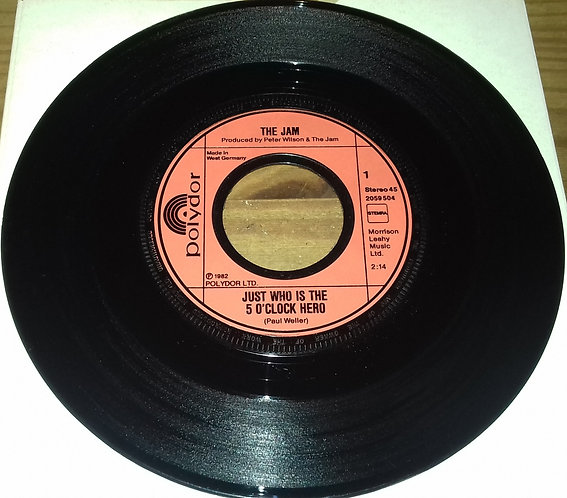 """The Jam - Just Who Is The 5 O'Clock Hero (7"""", Single) (Polydor)"""