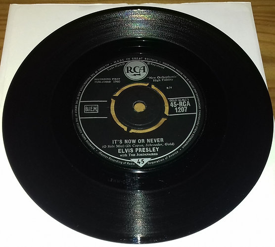 "Elvis Presley With The Jordanaires - It's Now Or Never (O Sole Mio) (7"", Single"