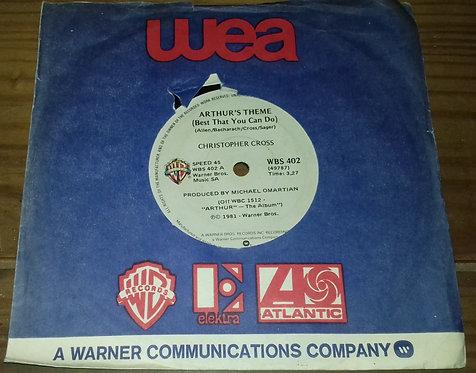 "Christopher Cross - Arthur's Theme (Best That You Can Do) (7"", Single) (Warner B"