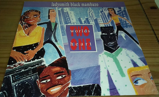 Ladysmith Black Mambazo - Two Worlds One Heart (LP, Album) (Warner Bros. Records