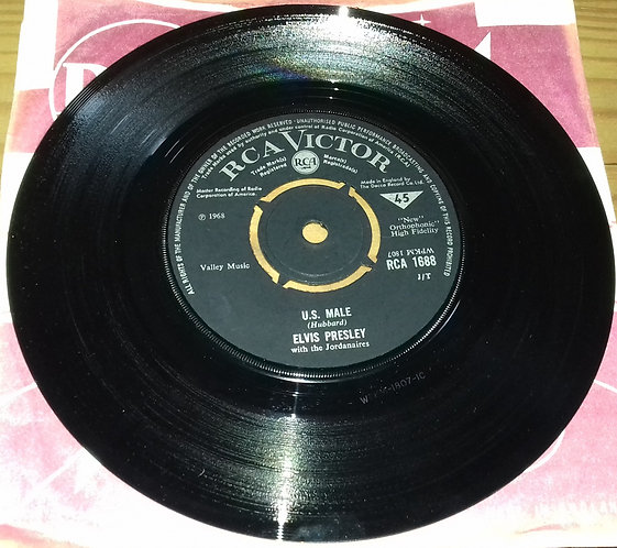 """Elvis Presley With The Jordanaires - U.S. Male (7"""", Single) (RCA Victor)"""