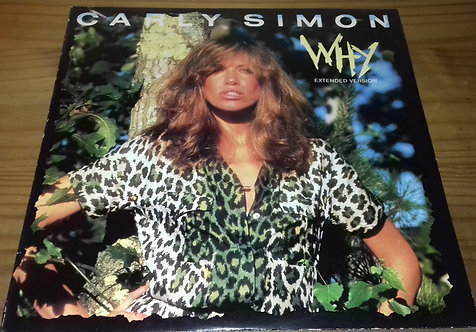 """Carly Simon - Why (Extended Version) (12"""", Single) (WEA, Mirage (2))"""