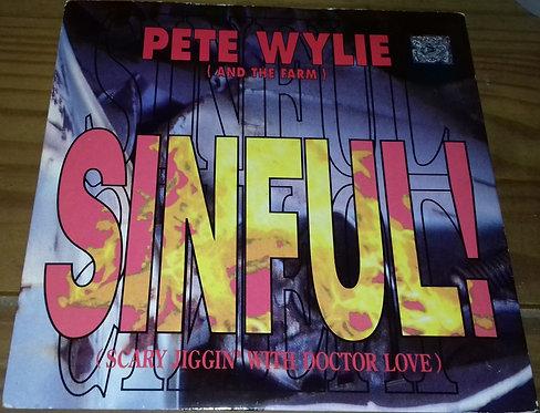 """Pete Wylie - Sinful! (Scary Jiggin' With Doctor Love) (7"""", Single) (Siren (3))"""