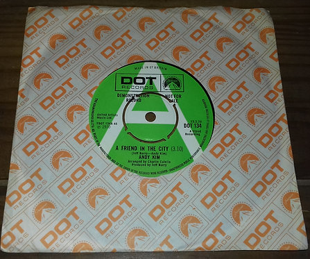 """Andy Kim - A Friend In The City (7"""", Promo) (Dot Records)"""
