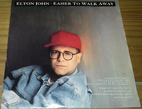 "Elton John - Easier To Walk Away (7"", Single) (The Rocket Record Company, The Ro"