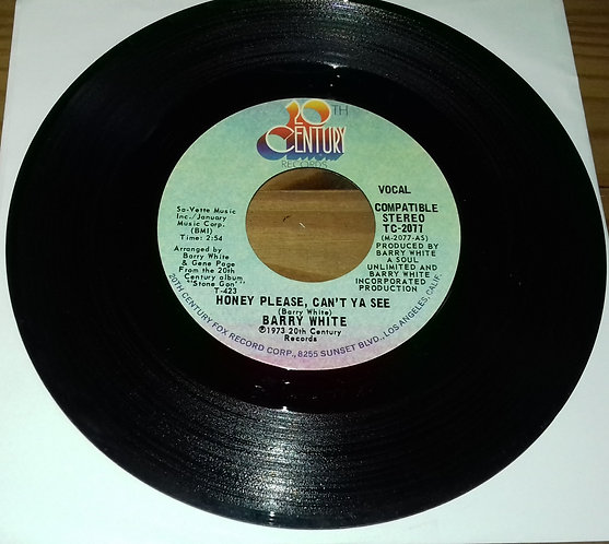 "Barry White - Honey Please, Can't Ya See (7"", Styrene) (20th Century Records)"