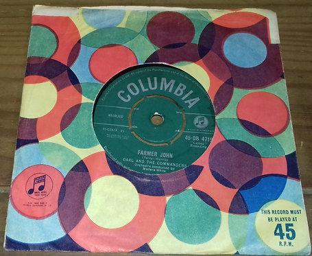 "Carl And The Commanders* - Farmer John / Cleanin' Up (7"", Single, Mono) (Columbi"