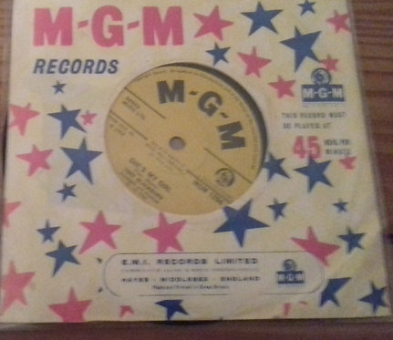 "Tony Blackburn - She's My Girl (7"", Single, Sol) (MGM Records)"
