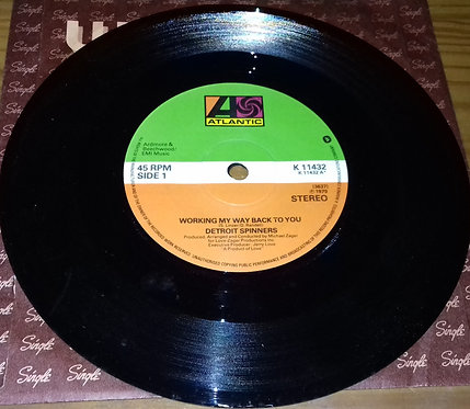 """Detroit Spinners* - Working My Way Back To You (7"""", Single) (Atlantic)"""
