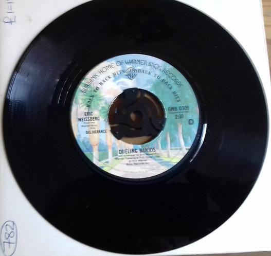 """Eric Weissberg - Dueling Banjos / Reuben's Train (7"""", Single, RE) (Warner Bros."""