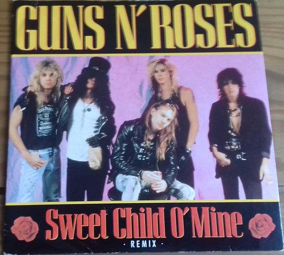 "Guns N' Roses - Sweet Child O' Mine (Remix) (7"", Single, Pap) (Geffen Records, G"