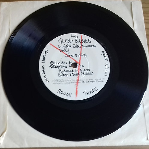 """Glaxo Babies - Limited Entertainment (7"""", EP) (Y Records)"""