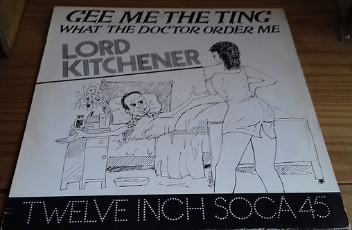 """Lord Kitchener - Gee Me The Ting / Instrumental (12"""") (Charlie's Records)"""