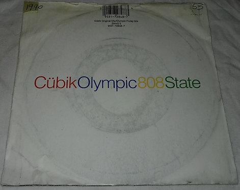 """808 State - Cübik / Olympic (7"""", Single) (ZTT, ZTT)"""