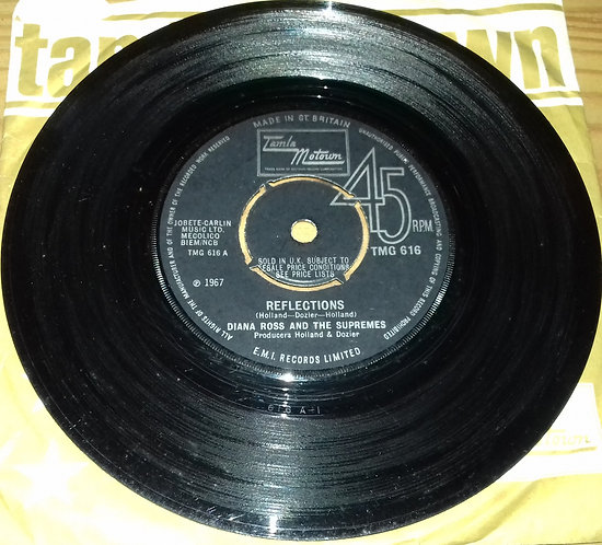 """Diana Ross And The Supremes* - Reflections (7"""", Single, Pus) (Tamla Motown)"""