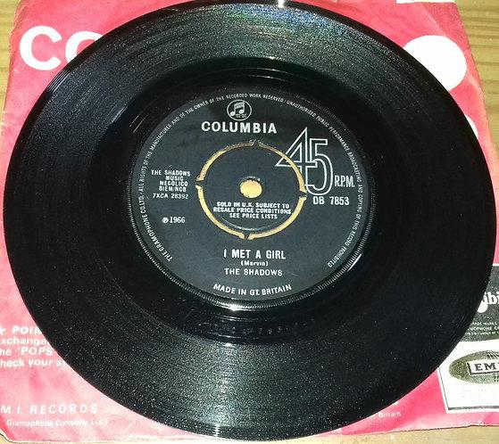"The Shadows - I Met A Girl (7"", Single) (Columbia)"