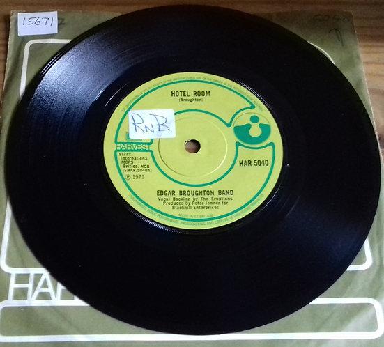 "Edgar Broughton Band* - Hotel Room (7"", Single, Sol) (Harvest)"