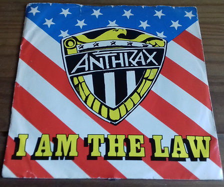 """Anthrax - I Am The Law (7"""", Single) (Island Records)"""