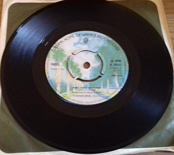 "Faces  - Pool Hall Richard (7"", Single, 4 p) (Warner Bros. Records)"