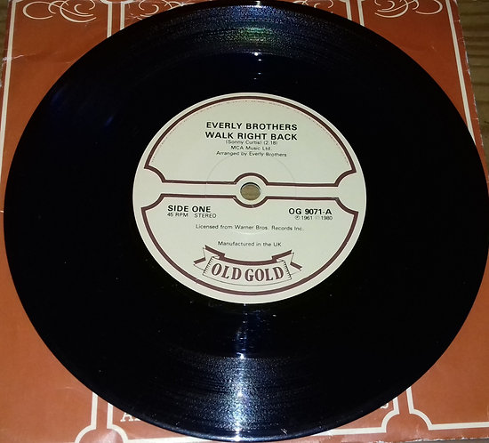 """Everly Brothers - Walk Right Back / Ebony Eyes (7"""", Single) (Old Gold (2))"""