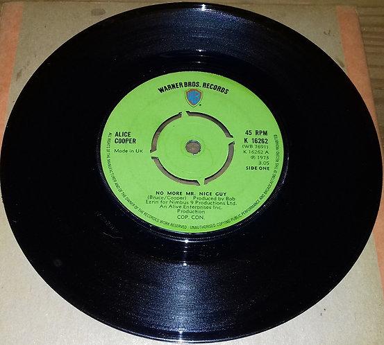 "Alice Cooper - No More Mr. Nice Guy (7"", Single, Kno) (Warner Bros. Records)"