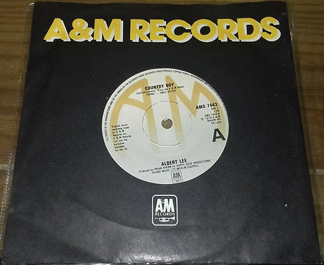 """Albert Lee - Country Boy (7"""", Single, Sol) (A&M Records)"""