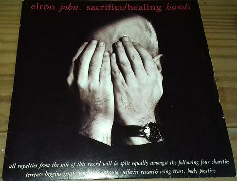 "Elton John - Sacrifice / Healing Hands (7"", Single, RE, Sil) (The Rocket Record"