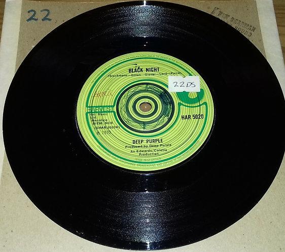 """Deep Purple - Black Night (7"""", Single, Sol) (Harvest)"""