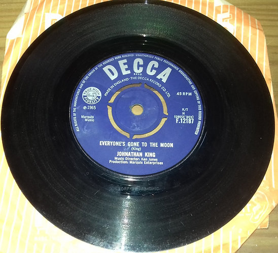 """Johnathan King* - Everyone's Gone To The Moon (7"""", Single, 4-p) (Decca)"""