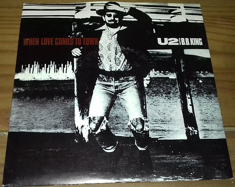 """U2 With B.B. King - When Love Comes To Town (7"""", Single, Pap) (Island Records)"""