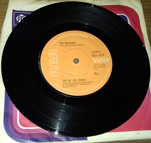 """The McGuires  - Top Of The World / Love Is (7"""", Single) (RCA Victor)"""