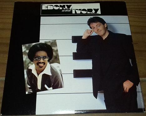 "Paul McCartney - Ebony And Ivory (7"", Single, Pus) (Parlophone, Parlophone, MPL"