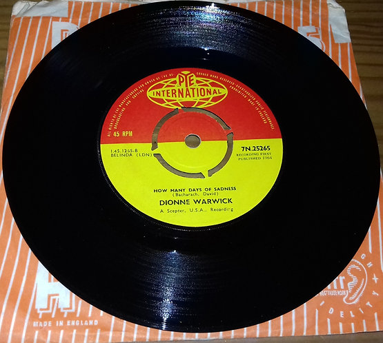 "Dionne Warwick - Reach Out For Me (7"", Single) (Pye International)"
