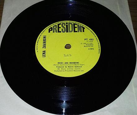 """Lena Zavaroni - Roses And Rainbows (7"""") (President Records)"""