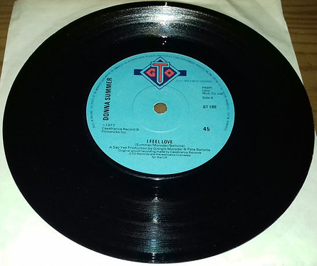 "Donna Summer - I Feel Love (7"", Single, Blu) (GTO)"