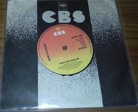 "Gary's Gang - Keep On Dancin' (7"", Single) (CBS)"