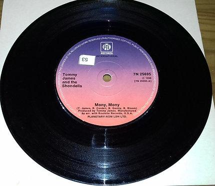 """Tommy James & The Shondells - Mony, Mony (7"""", Single) (Pye International)"""