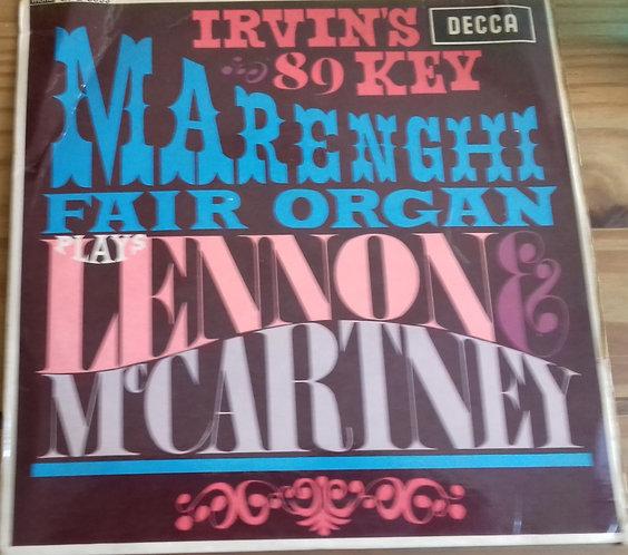 "Irvin's 89 Key Marenghi Fair Organ - Plays Lennon And McCartney (7"", EP, Mono)"
