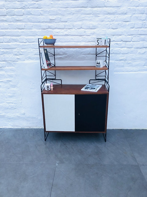 WALL UNIT VINTAGE FORMICA/BOIS