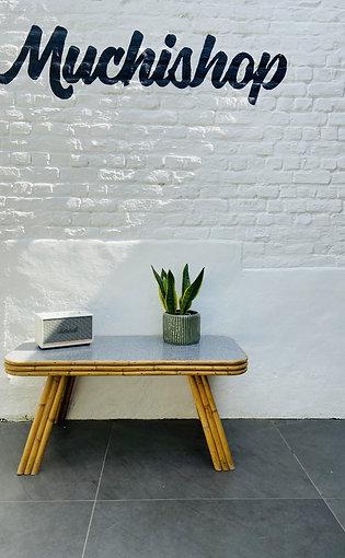 TABLE BASSE VINTAGE BAMBOU / FORMICA