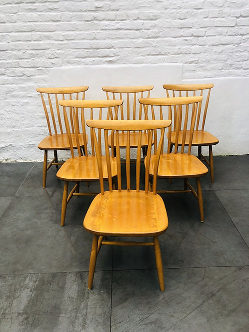 SUITE DE 6 CHAISES AKERBLOM MADE IN SWEDEN